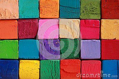 Multi colour pastel chalks background