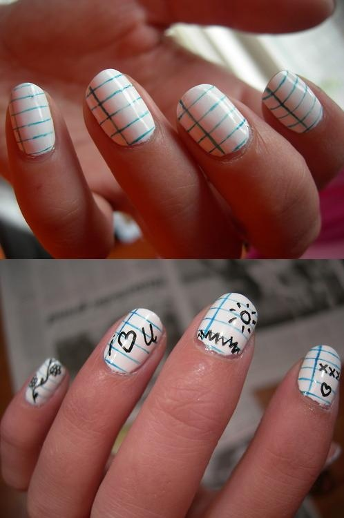 1685 best nail art images on pinterest beauty nails board and notepad nails you write on them with a washable nail art pen and you prinsesfo Images