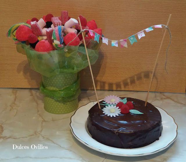 Dulces Ovillos: Tarta de cumpleaños y ramo de chuches -  Birthday ...