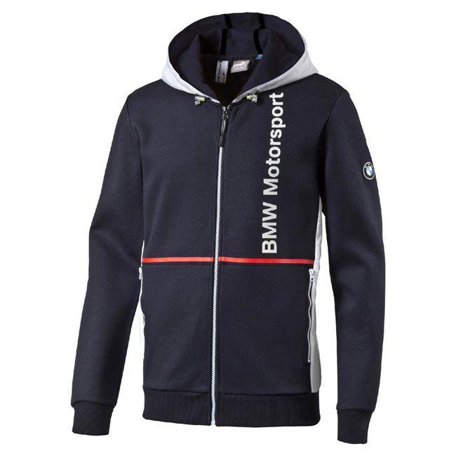 PUMA BMW MSP Hooded Sweat Jacket pánská mikina s kapucí
