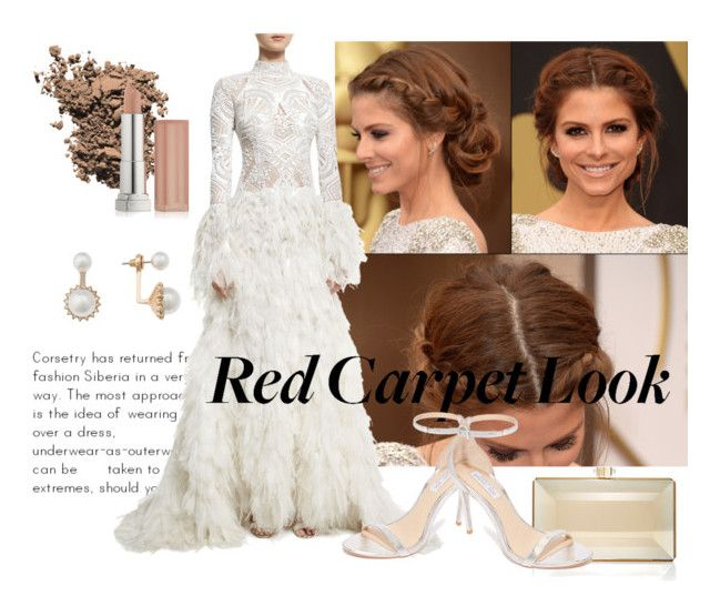 """""""Stunning"""" by kharismabelle on Polyvore featuring Judith Leiber, Dolce&Gabbana, Jonathan Simkhai, Maybelline, Eloquii, Rachel Zoe, white, simple, look and Oscar"""