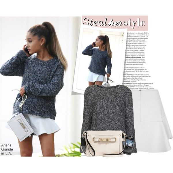 Baggy sweater over classy skirt