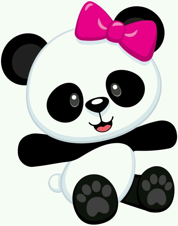 Ursinha panda de lacinho
