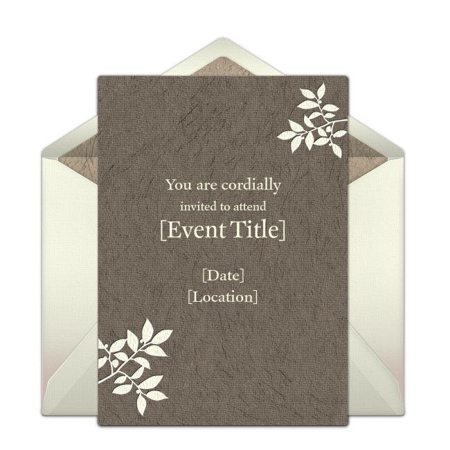 Simple Floral Online Invitation from Punchbowl.com