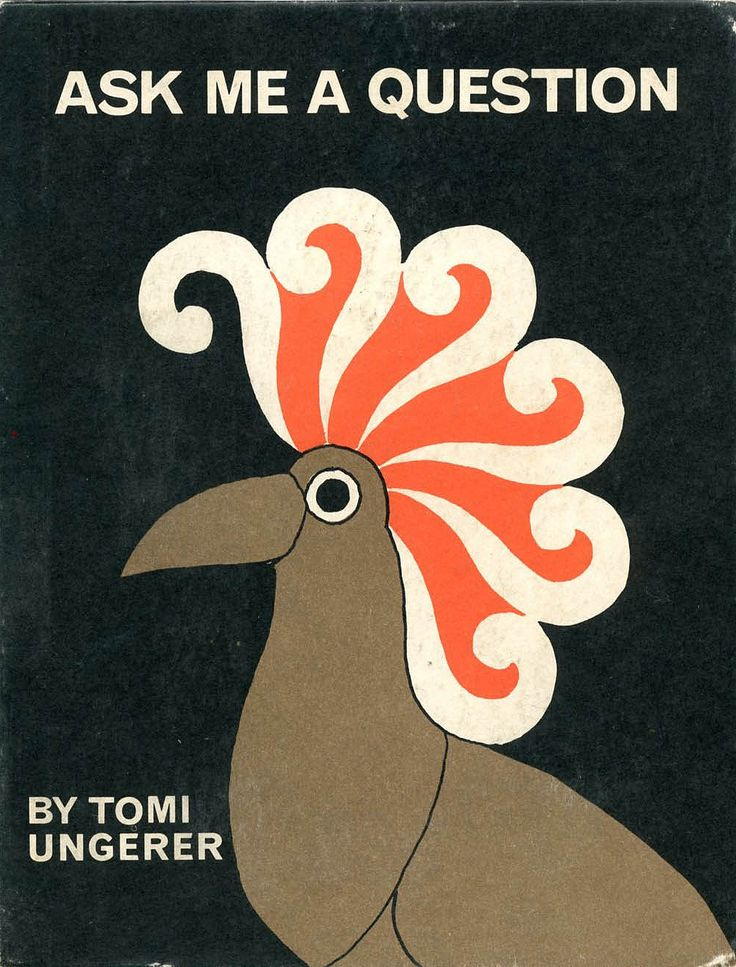 Old Book Cover Generator ~ Tomi ungerer ask me a question illustration