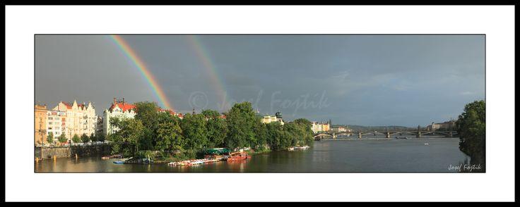 Framed fine art photography - Vltava River and Slovansky Island, Prague, Czech Republic. Photo: Josef Fojtik - www.joseffojtik.com - https://www.facebook.com/Fineartphotoprints