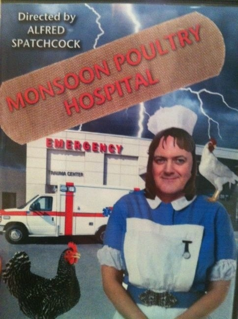 Monsoon Poultry Hospital! I now really want this. At least a trailer. ;)
