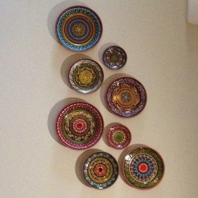 Decorative Spanish plates on wall