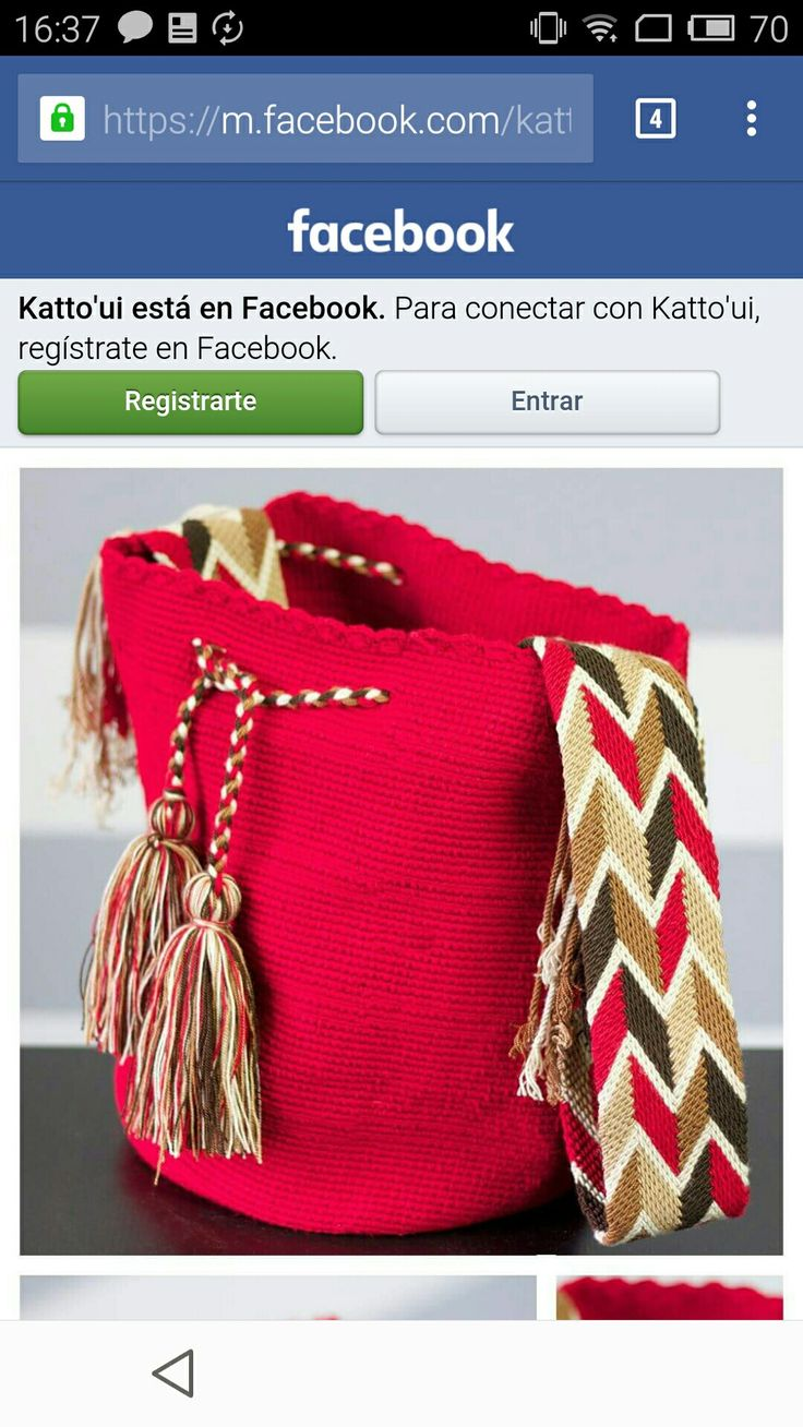 Wayuu bag red