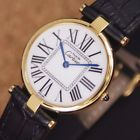 Authentic Must De Cartier Vermeil White Dial Gold Plated Quartz Mens Wrist Watch