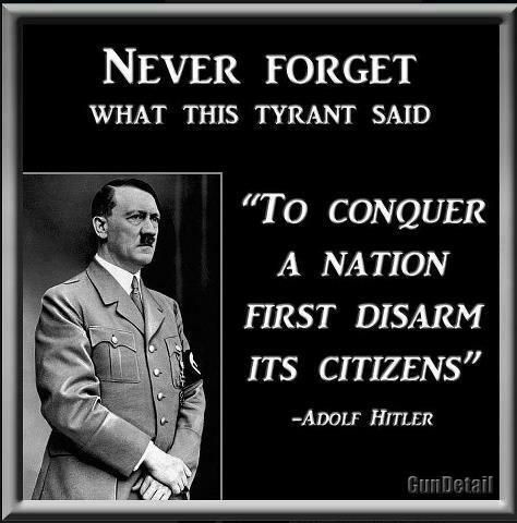 """You might be a HITLER knock off is you....""""SQUEAL FIRST DISARM THE CITIZENS....2nd amendment - Google Search"""