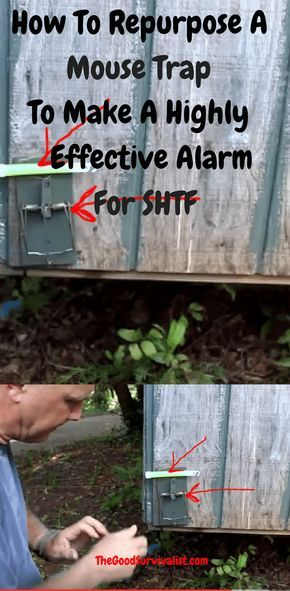 You will be shown two ways to use mouse traps, and rat traps to make your alarms. These are perimeter alarms, which could also be adapted quite easily to use in your home if need be.