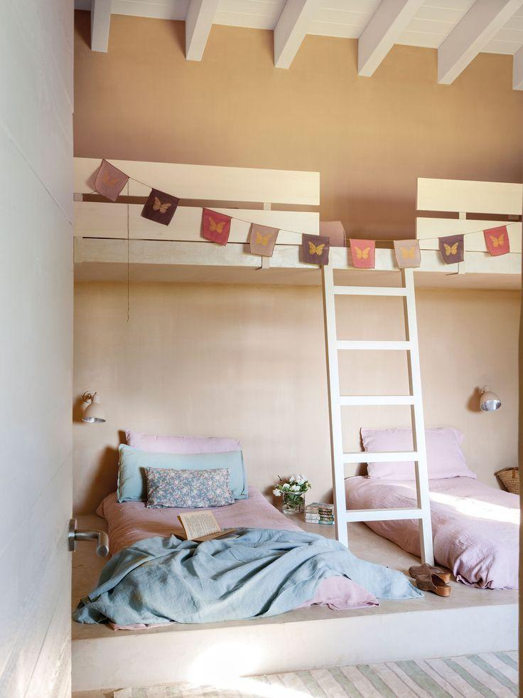 M s de 25 ideas incre bles sobre literas de paleta en - Literas para habitacion pequena ...