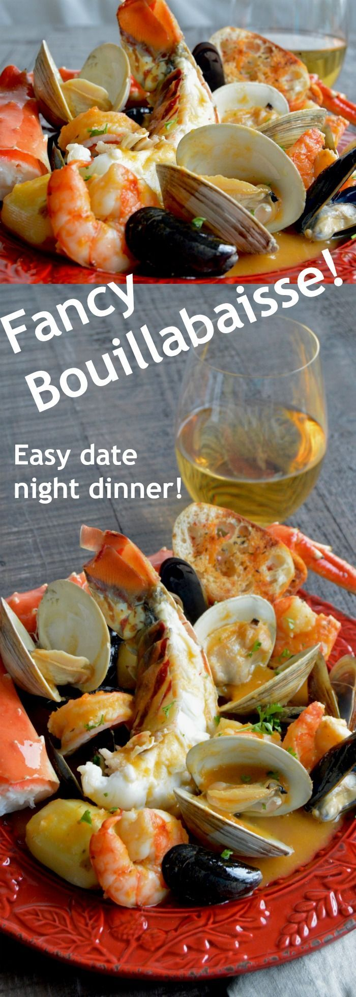 Fancy Shellfish Bouillebaisse shellfish, lobster crab, shrimp mussels and crab in a very flavorful homemade broth that can be on the table in less than 45 minutes! via @westviamidwest