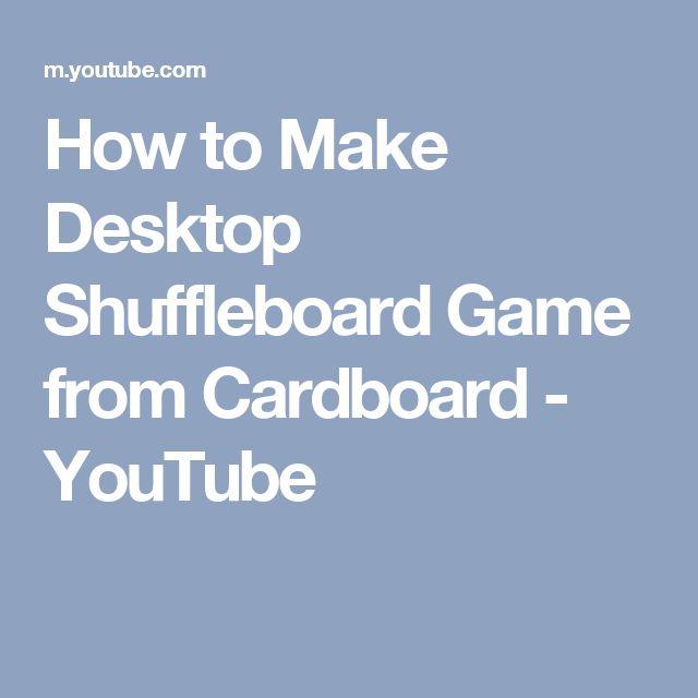 How to Make Desktop Shuffleboard Game from Cardboard - YouTube