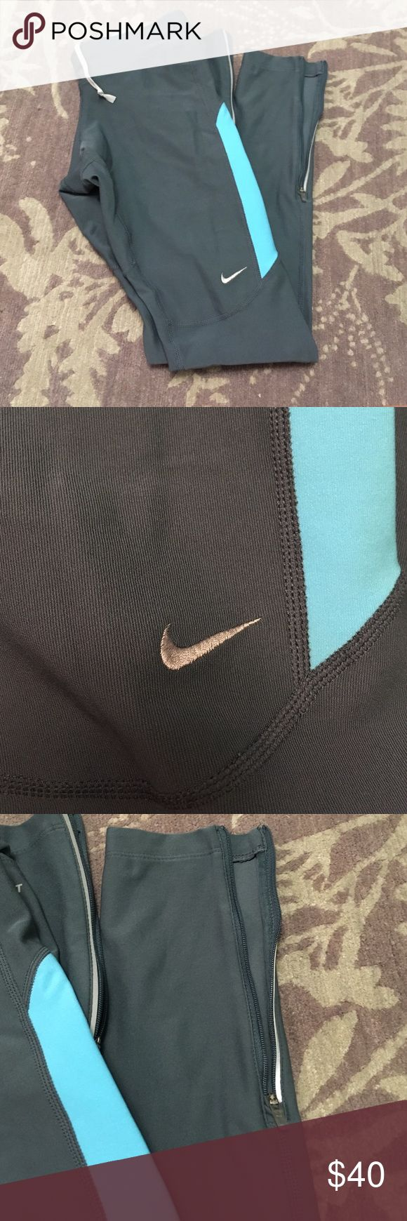 NWOT Nike Leggings brand new nike legging without the tag. I just didn't like how they fit me! Have zippers at the ankle. Nike Pants Leggings