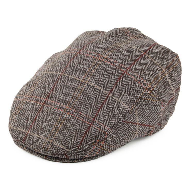 Jaxon & James Hats Tweed Flat Cap - Brown-Grey from Village Hats.