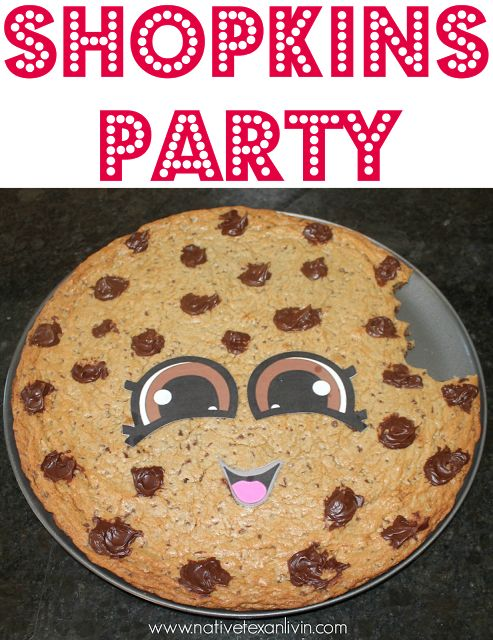 Kooky Cookie Cookie Cake Shopkins Party. SUPER EASY to make & a great addition to any Shopkins party!