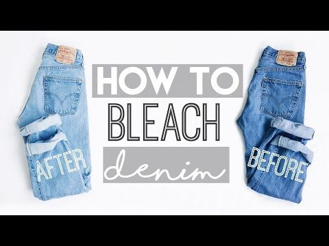 How To Lighten Jeans Or Fade A Denim Jacket - That Effortless Bitch