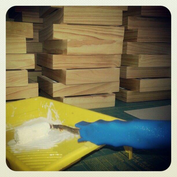 Marcos en madera de pino