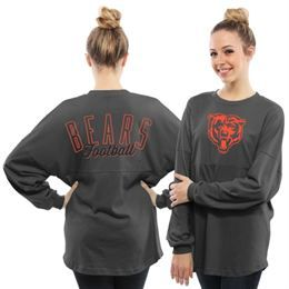 Women's Chicago Bears Concepts Sport Navy Home Field French Terry Long Sleeve T-Shirt