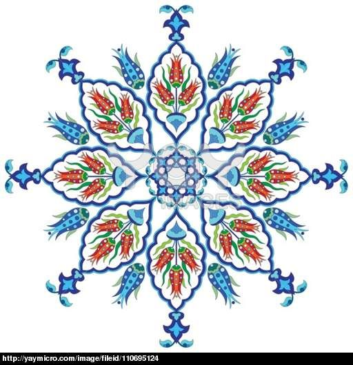 flowers in the Ottoman art one