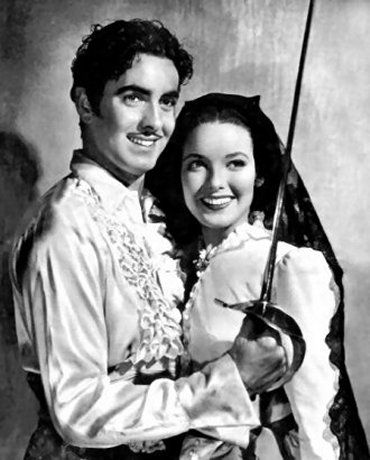 "Tyrone Power & Linda Darnell in ""The Mark of Zorro"" 1940."