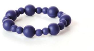 Bumkins & Bolla Silicone Teething Bracelet in Navy
