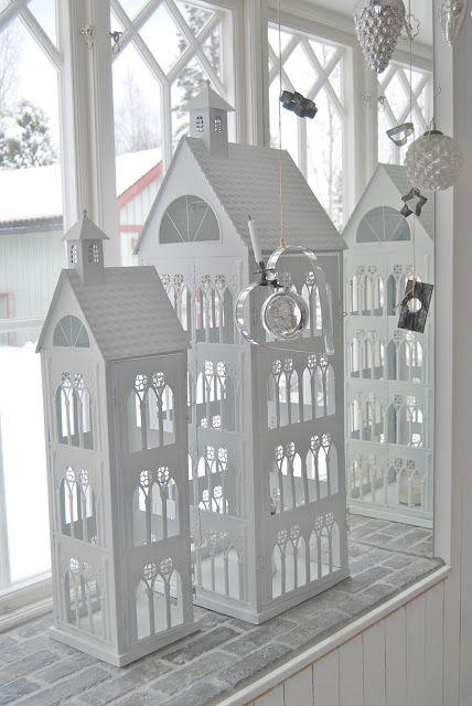 lantern houses tealight. Cute blog