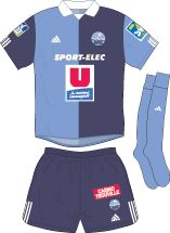 Le Havre AC of France home kit for 2002-03.