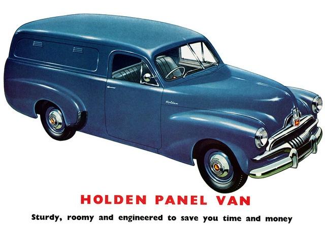 1953 Holden FJ Panel Van. (Original Poster).  v@e.