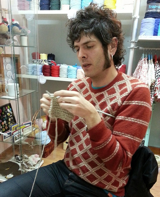 The real men knit . Sr AH!