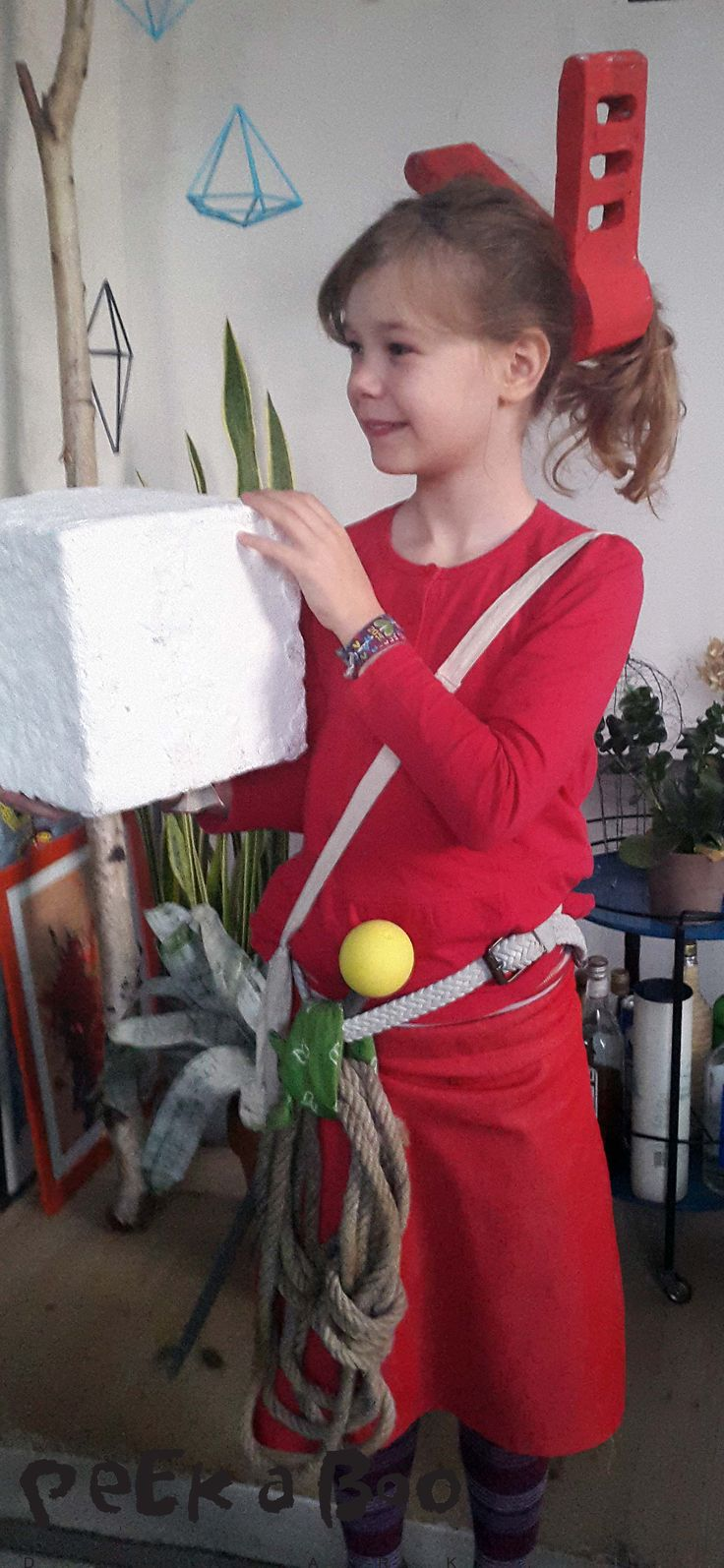 Arietty costume for the kids. see how easy it's made on the blog. Design Blog - DIY - Home Garden and Living inspiration - Peekaboo Design