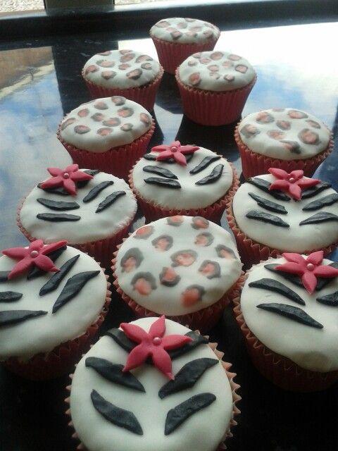 Animal print cup cakes #dunelmbakeoff