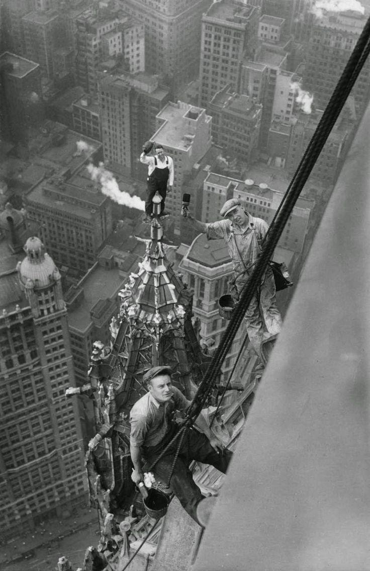 En el edificio Woolworth de Nueva York en 1926.