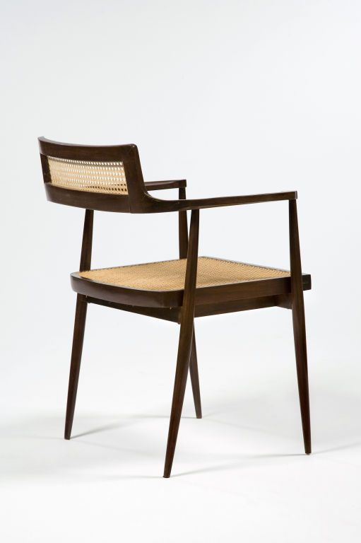 Set of six chairs by Joaquim Tenreiro | From a unique collection of antique and modern armchairs at http://www.1stdibs.com/furniture/seating/armchairs/