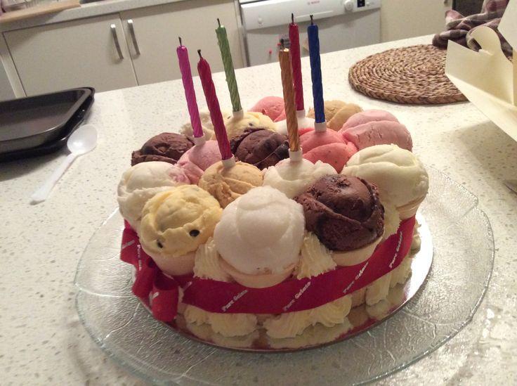 Yummy family birthday cake for me