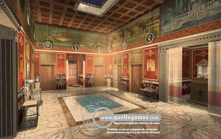Domus romana ancient roman domus pinterest house for Ancient roman interior decoration
