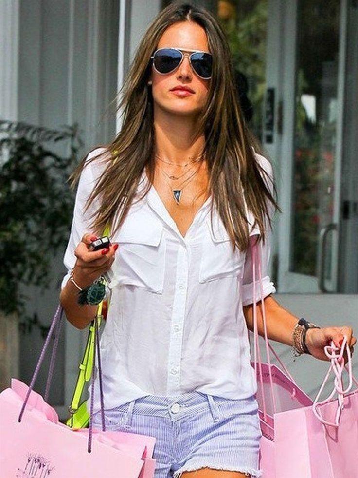 Celebrities Wearing Button Down Shirts Fall 2011 ...