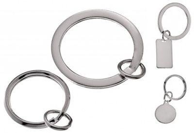 Keyring - SPLIT RING ATTACHMENT - Sterling Silver