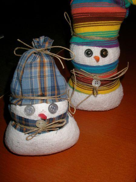 Muñecos de nieve para decorar nuestra casa por Navidad