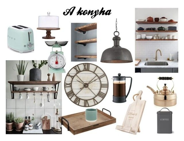 A konyha by maisonblog on Polyvore featuring interior, interiors, interior design, home, home decor, interior decorating, Crate and Barrel, Cathy's Concepts, Magnolia Home and Bodum