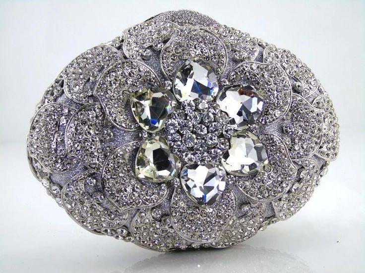 Luxus Kristall Verkrustete Taschen Frauen Diamant Silber Gold Abendtasche für Party Geldbörse Prom Tag Clutches Bling Bankett Taschen 88169 //Price: $US $84.55 & FREE Shipping //     #abendkleider