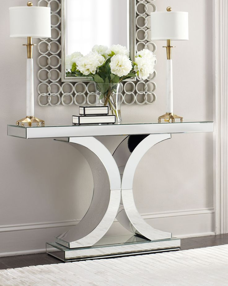 Delicieux Coffee Table Decor Living Room · Splendora Mirrored Console