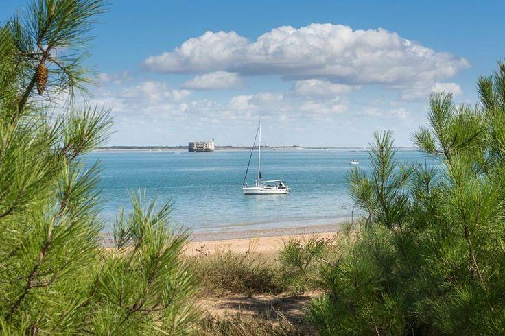 Le fort Boyard vu depuis la plage des Saumonards - Ile d'Oléron (Charente-Maritime, France)