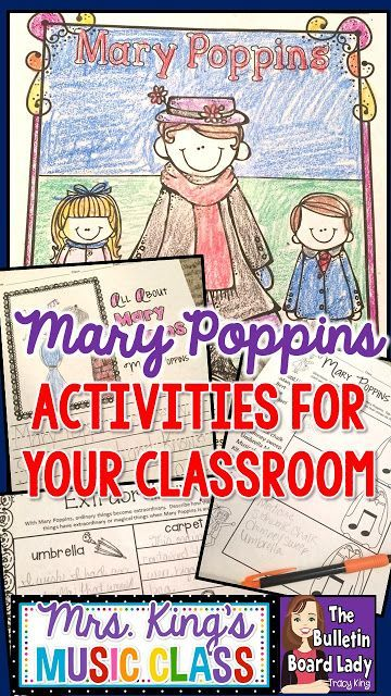 Mary Poppins Activities for Your Classroom -Worksheets, color sheets, activities, dance routines...oh my goodness!  So many good ideas.  It's practically perfect in every way!