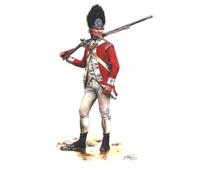 Grenadier Private of the British Marines 1775