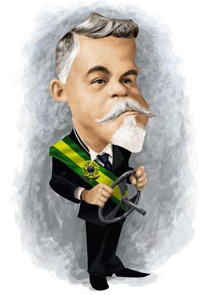 #Caricatura de #Washington Luís, presidente da República de 15/11/1926-24/10/1930.