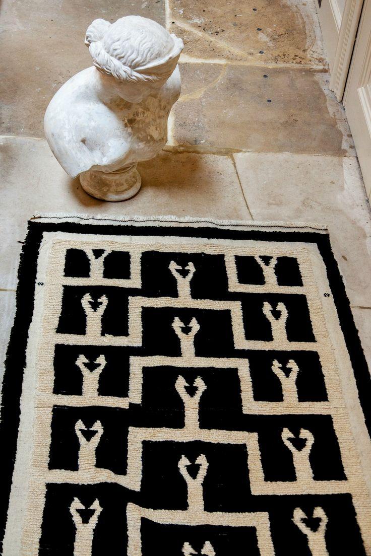 Vintage Black And White Moroccan Rug   Inspiring Vintage Kilims, Pile Rugs  And Vintage Carpets