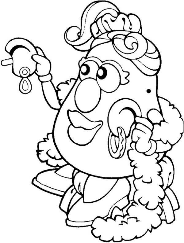 Mr Potato Head Wife Try New Earing Coloring Pages Coloring Pages Toy Story Coloring Pages Emoji Coloring Pages